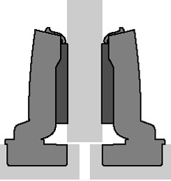 Dicktüren-Topfbänder HETTICH Sensys 8631, Eck-, Mittel- und inliegendes Band