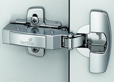Charnières pour portes épaisses HETTICH Sensys 8631i, charnière d'angle, centrique et rentrante