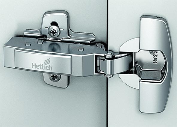 Charnières pour portes épaisses HETTICH Sensys 8661, charnière d'angle, centrique et rentrante