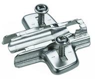 Plaques de montage cruciforme HETTICH Sensys/Intermat 8099, montage d'angle