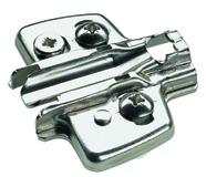 Plaques de montage cruciforme HETTICH Sensys/Intermat 8099, montage d'angle, à enfoncer