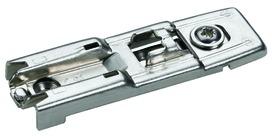 Plaques de montage linéaire HETTICH Sensys/Intermat 8099, montage d'angle, à visser, avec réglage en hauteur excentrique +/- 2 mm, vis pour panneaux agglomérés, rangée de perçages 20 mm