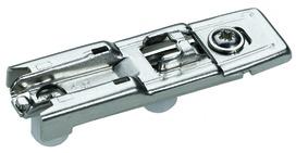 Linearmontageplatten HETTICH Sensys/Intermat 8099, Eckmontage, zum Einpressen, mit Excenter-Höhenverstellung +/- 2 mm, Lochreihe 20 mmmit vormontierten Spezialschrauben und Kunststoffmuffen,