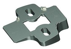 Adaptateur d'angle pour plaques de montage cruciforme HETTICH