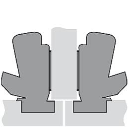 Charnières à encombrement zéro HETTICH Sensys 8657, charnière d'angle et centrique