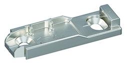 Plaques de montage linéaire HETTICH Sensys/Intermat 8099, montage d'angle, à visser