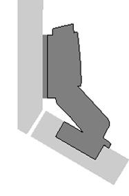 Charnières 30° HETTICH Sensys 8639i W30, charnière d'angle en applique / rentrant