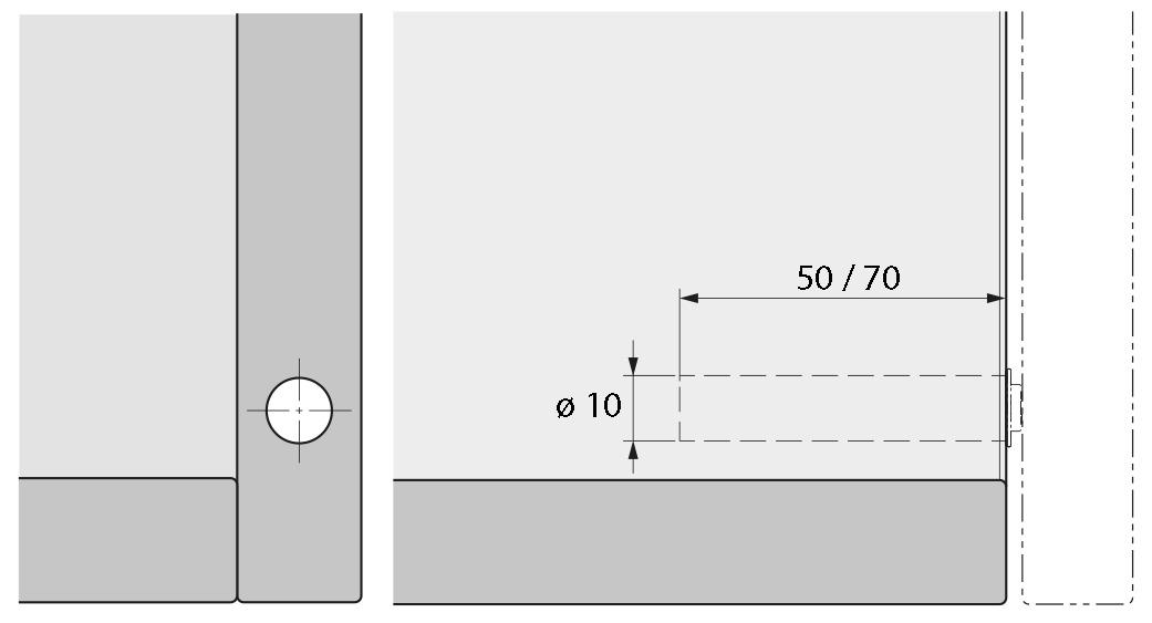 Push-to-open Pin Strong, à percer HETTICH