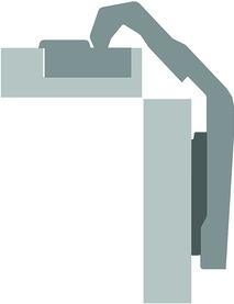 Topfbänder HETTICH Intermat 9930, Eckband vorliegend, ohne Dämpfung, mit Schliessautomatik, Anwendungsbereich Eckschrankfalttüren