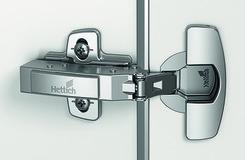 Charnières pour portes minces HETTICH Sensys 8646i, charnière d'angle, centrique et rentrante