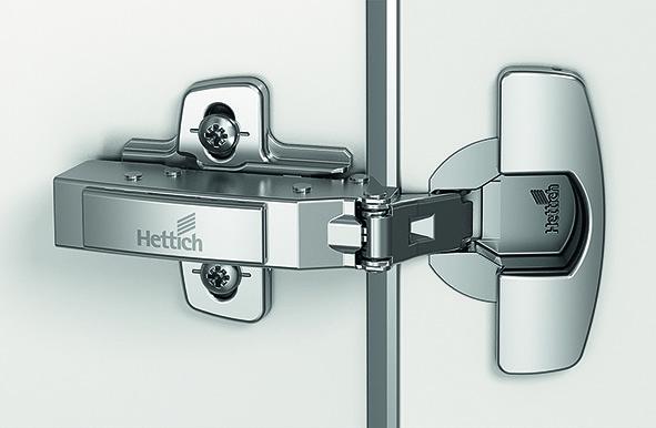 Charnières pour portes minces HETTICH Sensys 8676, charnière d'angle, centrique et rentrante