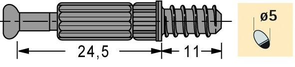 Perno di giunzione HETTICH Twister DU 262