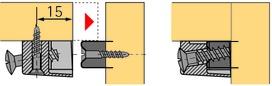 Ferrements d'assemblage trapézoïdaux HETTICH TZ 4