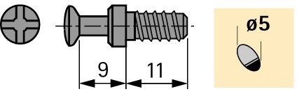Perno di giunzione HETTICH DU 327