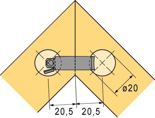 Congiunzione per angoli HETTICH VB 160