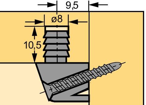Giunzione trapezoidale HETTICH TZ 28