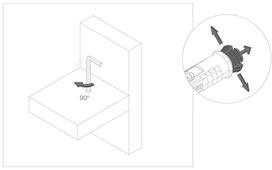 Jonction invisible horizontale Roto