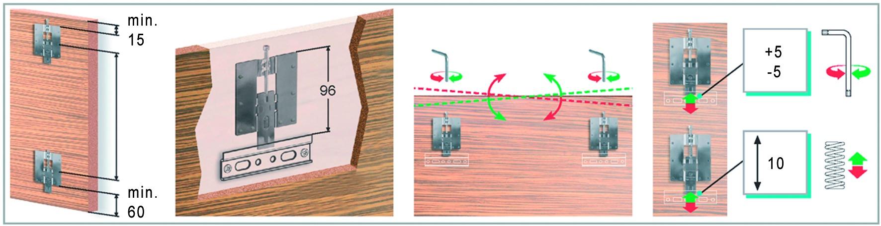 Support panneau réglable en hauteur