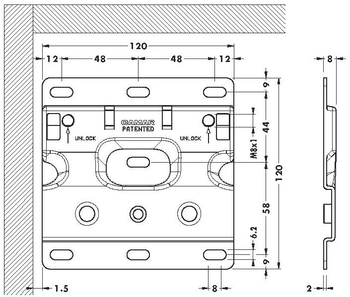 Rail de suspension