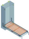 Sistema armadio-letto per letto singolo longitudinale Dynamic