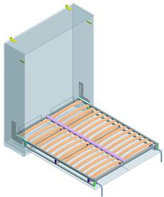 Système de lit pliant pour lit double en longueur Dynamic