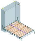 Sistema armadio-letto per letto doppio longitudinale Dynamic