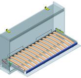 Sistema armadio-letto per letto singolo trasversale Sylvi