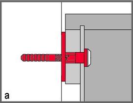 Isolamento acustico tassello in gomma con cuvette STAUFFER