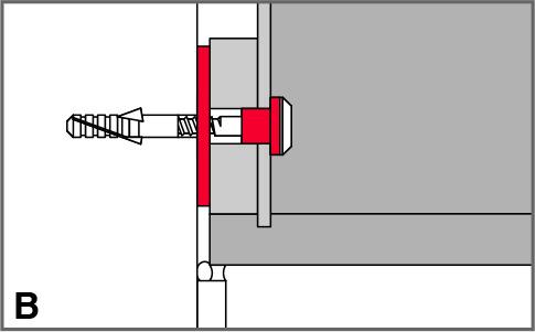 Isolamento acustico rosette in gomma con viti STAUFFER
