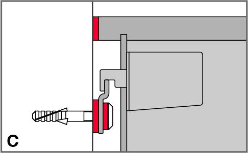 Isolamento acustico rosette in gomma con ranelle STAUFFER
