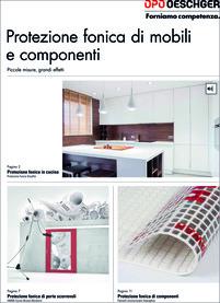 Schallschutz an Möbeln und Bauteilen, italienisch