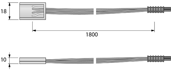 Câble d'alimentation HALEMEIER SuperStripe 24 V