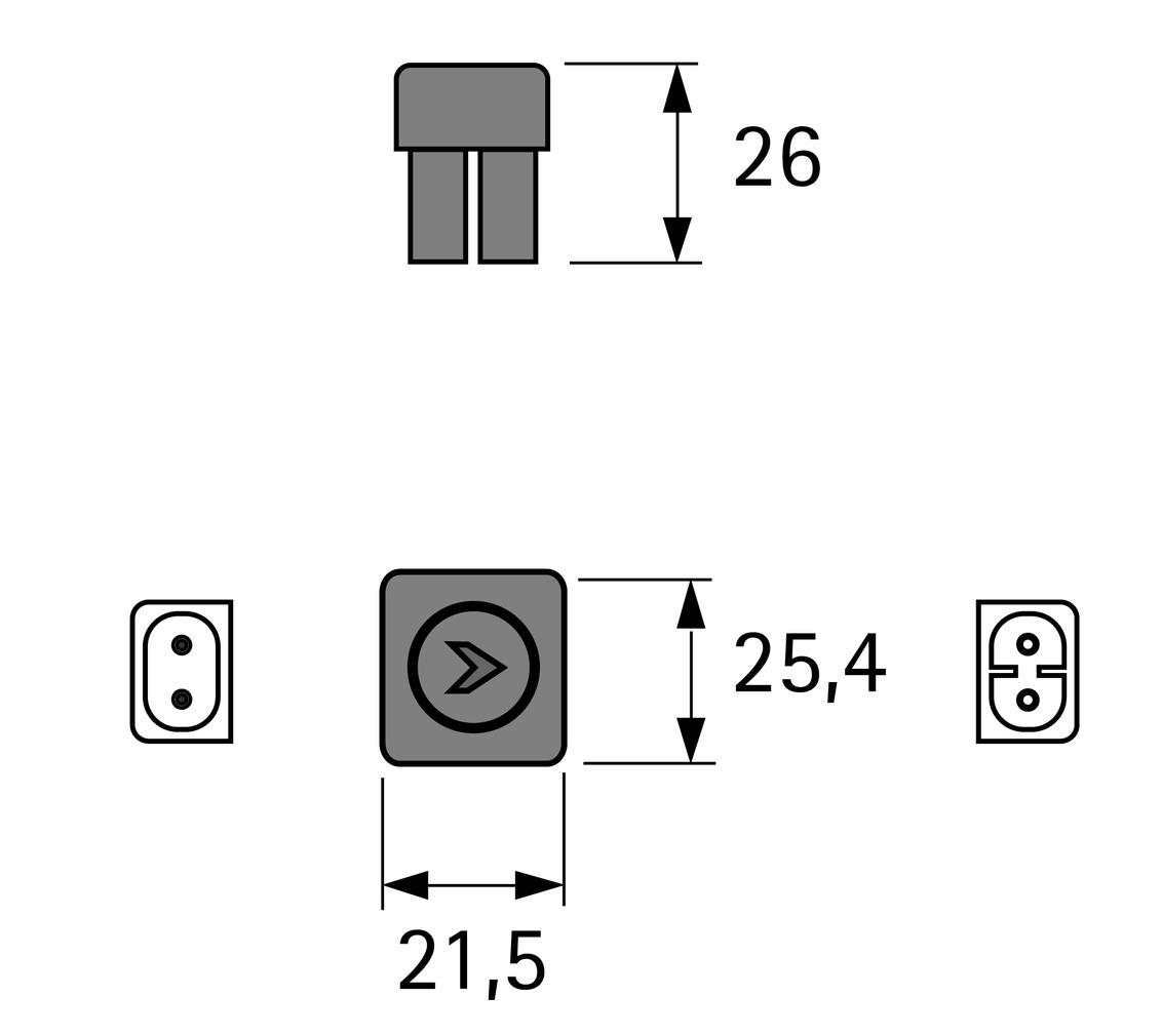 Connecteur HALEMEIER starr LiteLine Basic 230 V