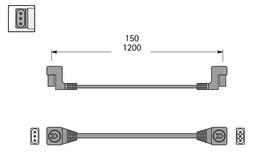 Verbindungsleitung 3-polig 230 V dimmbar