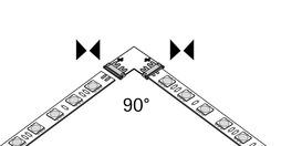 Connettore diretto 90° Versa Inside 1