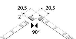 RGB connettore diretto 90° RBG 24 V