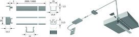 LED Einbauprofile HALEMEIER Versa ChannelLine B mit Lichtblende