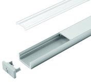 LED Anbauprofile HALEMEIER Versa ChannelLine D ø 20.5/10 mm mit Lichtblende