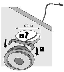 LED Ein-/Anbauleuchten HALEMEIER Swing 12 V