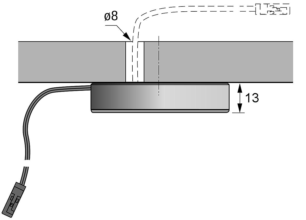 Boîtier rapporté HALEMEIER pour lampes LED encastrables/applique Swing / S-Flat