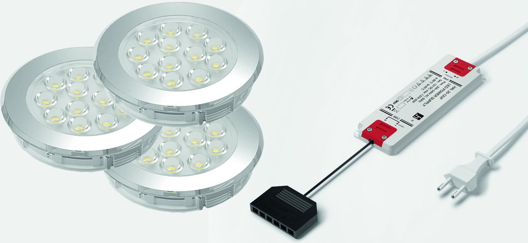 Jeu de lampes LED encastrables/applique HALEMEIER Sign Plus 12 V