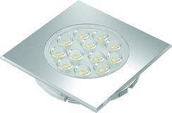 LED-Einbauleuchten Sign Plus square 12 V