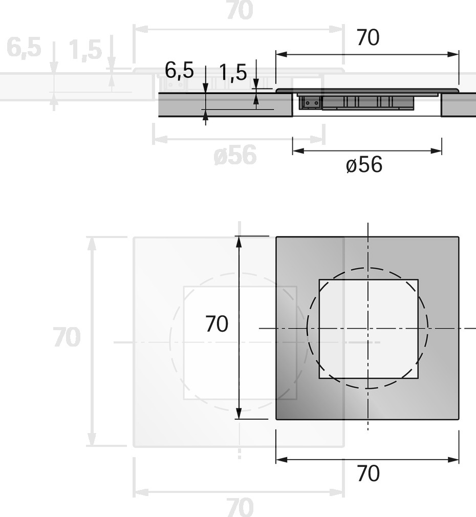 LED Einbauleuchten HALEMEIER QuadroPoint square 12 V