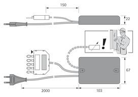 Transformateurs HALEMEIER 700 mA interface 1 - 10 V