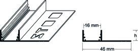 LED U-Profil avec patte de carrelage