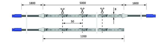 Bandes de LED HALEMEIER Versa Inside 120 HP / 24 V