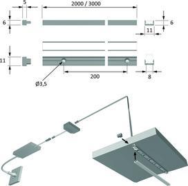 LED Anbauprofile HALEMEIER ChannelLine I mit Lichtblende
