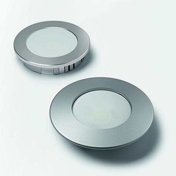 Lampes encastrables LED HALEMEIER HV DownLite 230 V (sans anneaux de recouvrement)
