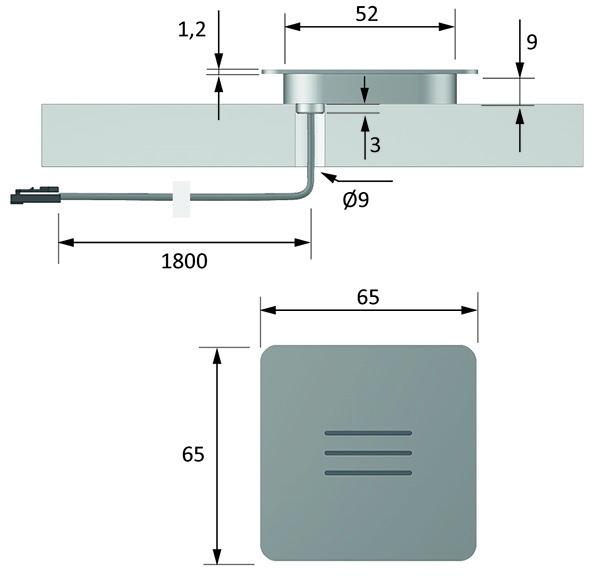 Lampes en appliques LED HALEMEIER PanelLite square 12 V