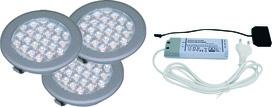 Jeu lampes encastrables/applique LED L&S 3 pcs. Sunny II 12 V